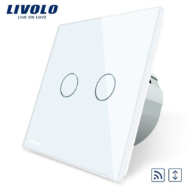 Livolo | White | Curtain | Wall Touch Switch | Remote