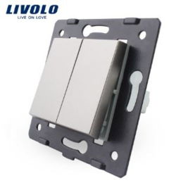 Livolo | Module | Frame | Double | 1 Way | Grey