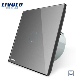 Livolo | Grey | 1Gang Doorbell/Pulse | Wall Touch Switch