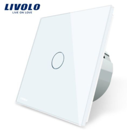 Livolo | White | Design |  1Gang 1Way | Bathroom Switch