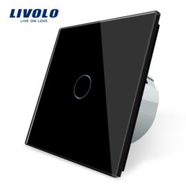 Livolo | Noir | 1 Bouton 1 Voie | Interrupteur Tactile Mural