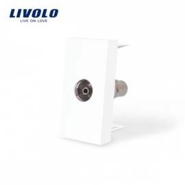 Livolo | Module | Frame | TV Socket | White