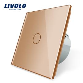 Livolo | Or | 1 Bouton 1 Voie | Interrupteur Tactile Mural
