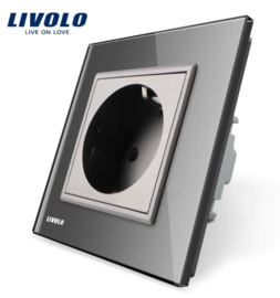 Livolo | Grey | Wall Power Socket