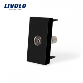 Livolo | Module | Frame | TV Socket | Black