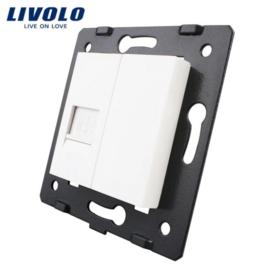 Livolo | Module | Frame | Network RJ45 & Cover  | White