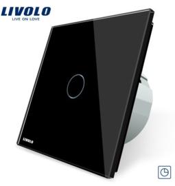 Livolo | Noir | 1 Bouton Minuteur | Interrupteur Tactile Mural