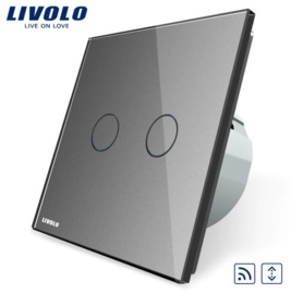 Livolo | Grey | Curtain | Wall Touch Switch | Remote