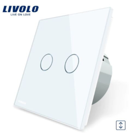 Livolo | White | Curtain | Wall Touch Switch