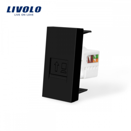 Livolo | Module | Frame | Network RJ45 | Black
