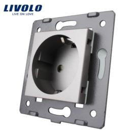 Livolo | Module | Frame |  Socket EU | Grey