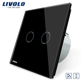 Livolo | Black | Curtain | Wall Touch Switch | Remote