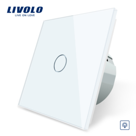 Livolo | White | Dimmer | 1Gang 1Way | Wall Touch Switch