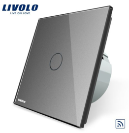 Livolo | Grey | 1Gang 1Way | Wall Touch Switch | Remote