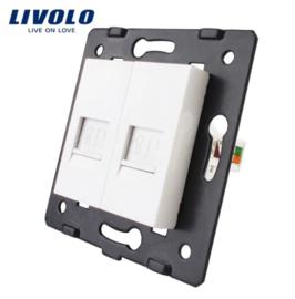 Livolo | Module | Frame | Network RJ45 & Network RJ45  | White