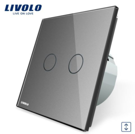 Livolo | Grey | Curtain | Wall Touch Switch