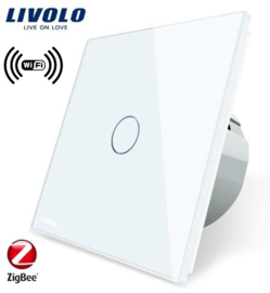 Livolo | White | 1Gang 1Way | Wall Touch Switch | Wifi/App
