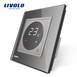 Livolo | Grey | Thermostat switch | CV and underfloor heating