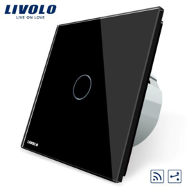Livolo | Black | 1Gang 2Way | Wall Touch Switch | Remote