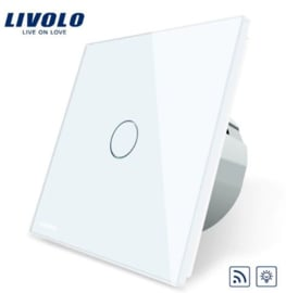 Livolo | White | Dimmer | 1Gang 1Way | Wall Touch Switch | Remote