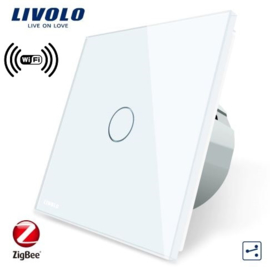 Livolo | White | 1Gang 2Way | Wall Touch Switch | Wifi/App
