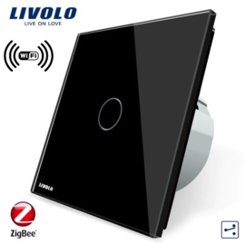 Livolo | Black | 1Gang 2Way | Wall Touch Switch | Wifi/App