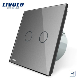 Livolo | Grey | 2Gang 2Way | Wall Touch Switch