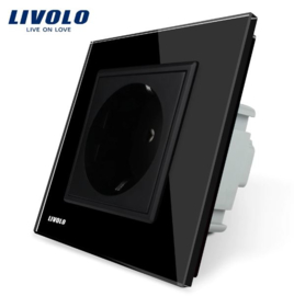 Livolo | Black | Wall Power Socket