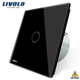 Livolo | Black | 1Gang 1Way | Low Voltage | 12-24V DC