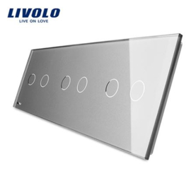 Livolo | Grey | Glass Panel  | Triple | 2 Gang