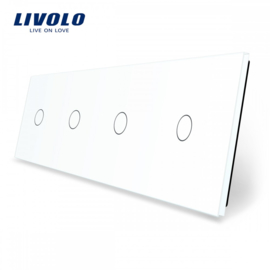 Livolo | White | Glass Panel  | Quadruple | 1 Gang