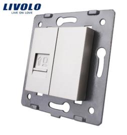 Livolo | Module | Frame | Network RJ45 & Cover  | Grey