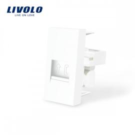 Livolo | Module | Frame | Telephone RJ11 | White