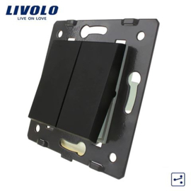 Livolo | Frame | Module | Double |  2 Way | Black