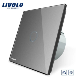 Livolo | Grey | Dimmer | 1Gang 1Way | Wall Touch Switch | Remote