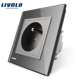 Livolo | Grey | French | Wall Power Socket