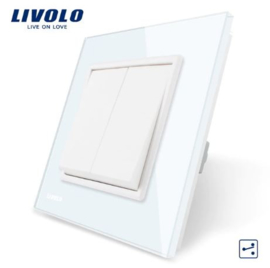 Livolo | White | 2Gang 2Way | Wall Push Switch