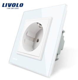 Livolo | White | Wall Power Socket
