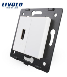 Livolo | Module | Frame | USB 2.1A & Cover  | White