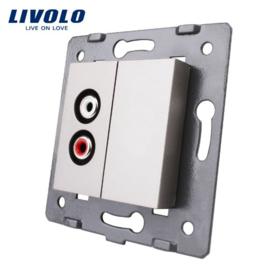 Livolo | Module | Cadre | Audio & Couverture | Gris