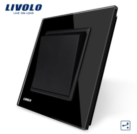 Livolo | Black | 1Gang 2Way | Wall Push Switch