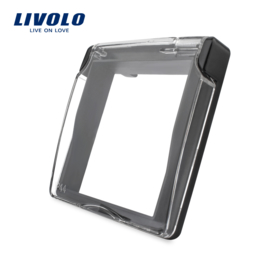Livolo | Waterproof cover for socket | IP44 | Black