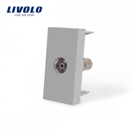 Livolo | Module | Frame | TV Socket | Grey