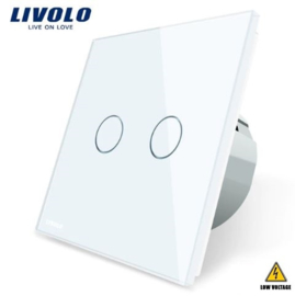 Livolo | White | 2Gang 1Way | Low Voltage | 12-24V DC