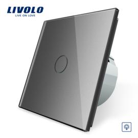 Livolo | Gris | Variateur | 1 Bouton 1 Voie | Interrupteur Tactile Mural