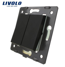 Livolo | Module | Frame | Double | 1 Way | Black