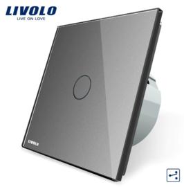 Livolo | Gris | 1 Bouton  2 Voies | Interrupteur Tactile Mural