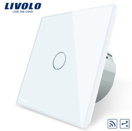 Livolo | White | 1Gang 2Way | Wall Touch Switch | Remote