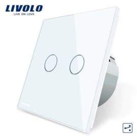 Livolo | White | 2Gang 2Way | Wall Touch Switch