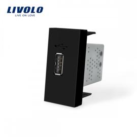 Livolo | Module | Frame | USB 2.1A | Black